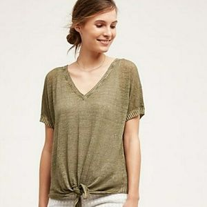 Cloth & Stone linen blend top size small